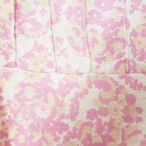 Vintage Dresses - Vintage Handmade Pink Lace Fit/flare Shirt Dress